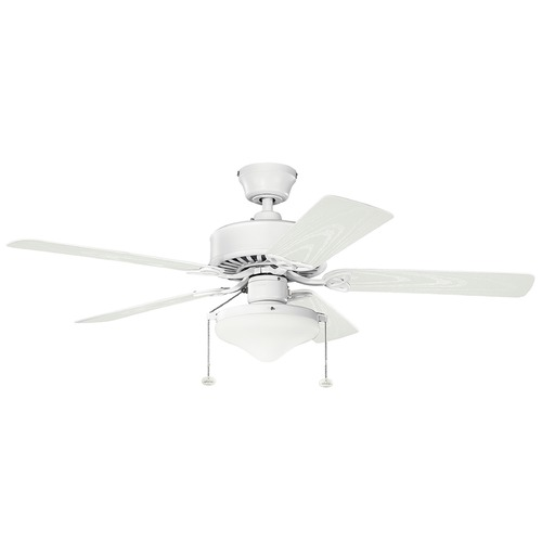 Kichler Lighting Kichler Lighting Renew Select Patio Matte White Ceiling Fan with Light 339516MWH