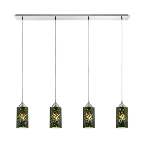 Elk Lighting Elk Lighting Illusions Polished Chrome Multi-Light Pendant with Cylindrical Shade 10504/4LP