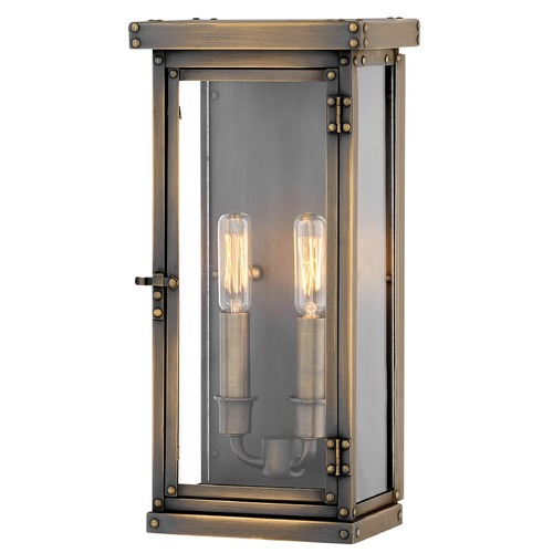 Hinkley Hinkley Hamilton 2-Light 14.25-Inch Dark Antique Brass Outdoor Wall Light 2004DS