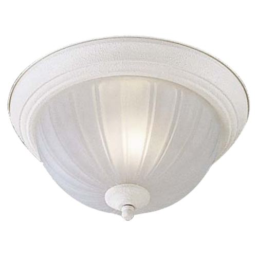 Minka Lavery Flushmount Light with White Glass in White Finish 828-86-PL