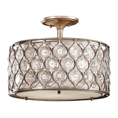 Feiss Lighting Semi-Flushmount Lights in Burnished Silver Finish SF289BUS