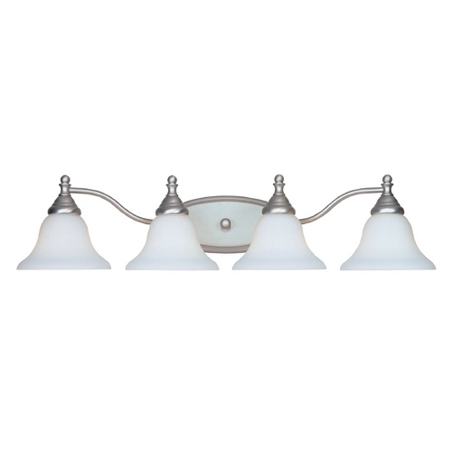 Designers Fountain Lighting Bathroom Light with White Glass in Pewter Finish 4774-PW