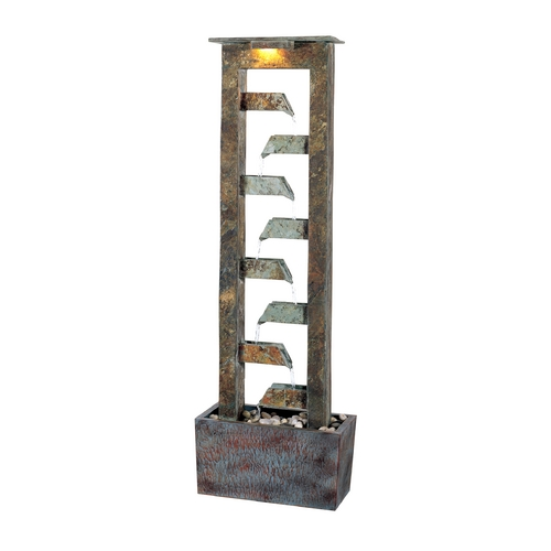 Kenroy Home Lighting Fountain in Natural Slate Finish 50254SL