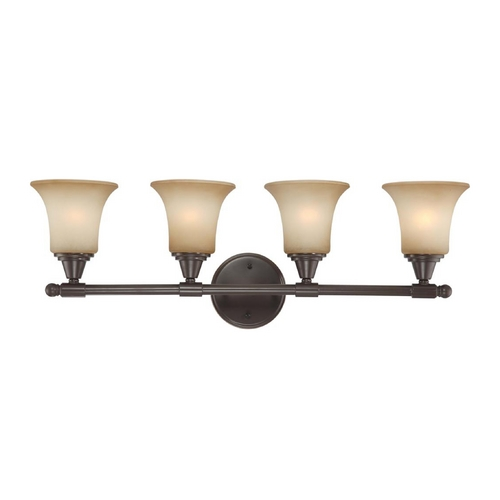 Nuvo Lighting Modern Bathroom Light with Beige / Cream Glass in Vintage Bronze Finish 60/4164