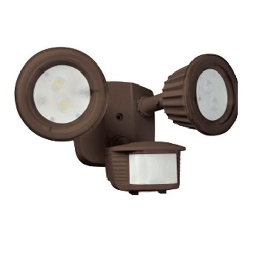 Designers Edge Lighting LED Outdoor Flood Light with Motion Sensor L-6015-BR
