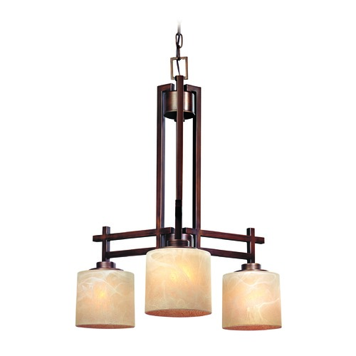 Dolan Designs Lighting Bronze Chandelier with Three Down Lights 2818-133