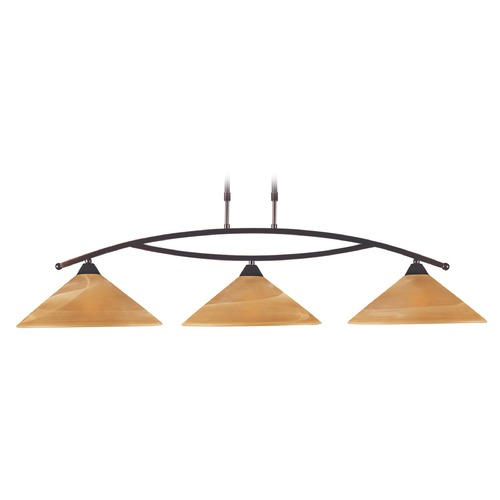 Elk Lighting Elk Lighting Elysburg Aged Bronze LED Island Light with Conical Shade 6552/3-LED