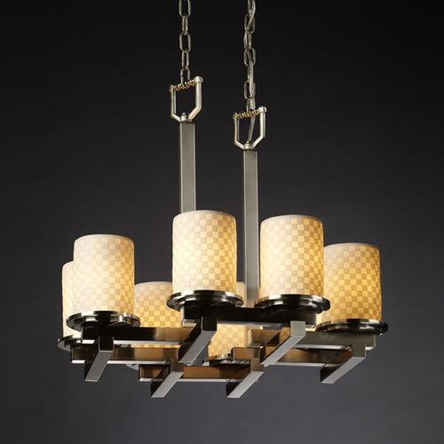 Justice Design Group Justice Design Group Limoges Collection Chandelier POR-8770-10-CHKR-NCKL