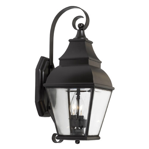 Elk Lighting Outdoor Wall Light with Clear Glass in Charcoal Finish 5215-C