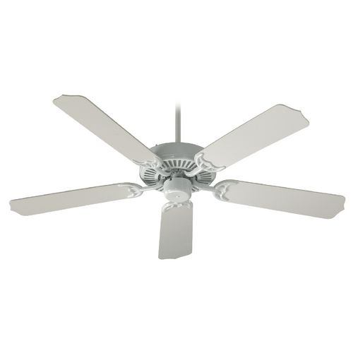 Quorum Lighting Quorum Lighting Capri I White Ceiling Fan Without Light 77525-6