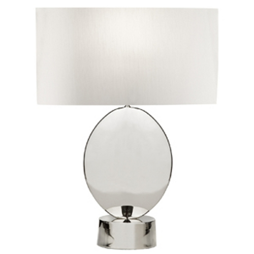 Fine Art Lamps Fine Art Lamps Grosvenor Square Polished Nickel Table Lamp with Drum Shade 826110ST