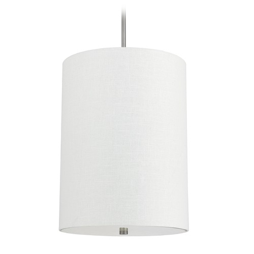 Capital Lighting Capital Lighting Loft Matte Nickel Pendant Light with Cylindrical Shade 3924MN-628