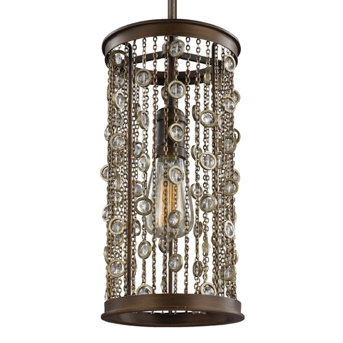 Feiss Lighting Feiss Colorado Springs Chestnut Bronze Mini-Pendant Light P1390CSTB