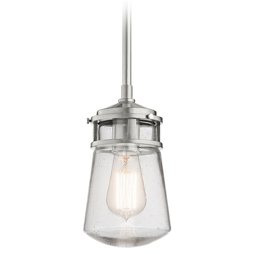 Kichler Lighting Kichler Lighting Lyndon Brushed Aluminum Outdoor Hanging Light 49446BA