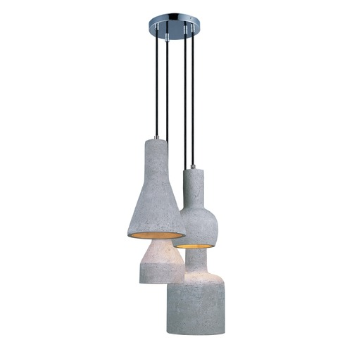 Maxim Lighting Maxim Lighting Crete Polished Chrome LED Multi-Light Pendant 12399GYPC
