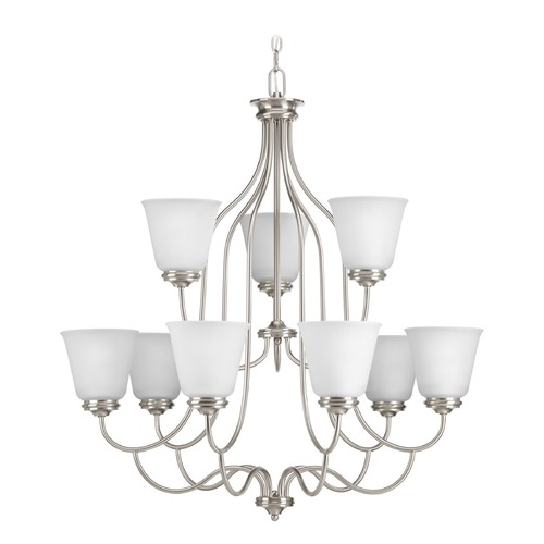 Progress Lighting Progress Lighting Keats Brushed Nickel Chandelier P4751-09