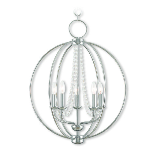 Livex Lighting Livex Lighting Arabella Polished Chrome Chandelier 40915-05