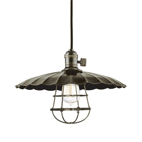 Hudson Valley Lighting Heirloom Old Bronze Pendant Light with Bowl Shade 8002-OB-ML3-WG