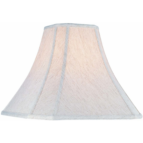 Lite Source Lighting Cream Cut Corner Lamp Shade with Spider Assembly CH1122-14