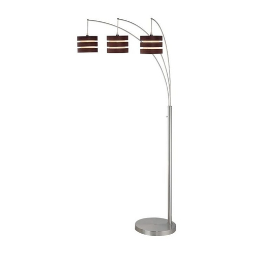 Lite Source Lighting Arc Floor Lamp with Three Lights and Wood Shades LS-80708