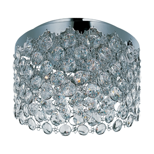 ET2 Lighting Modern Flushmount Light with Clear Glass in Polished Chrome Finish E21150-20PC