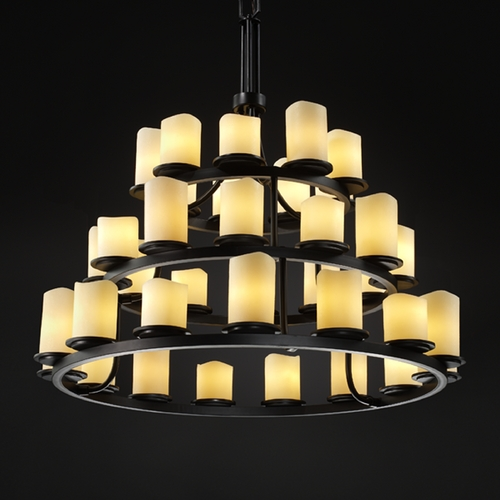 Justice Design Group Justice Design Group Candlearia Collection Chandelier CNDL-8712-14-CREM-MBLK