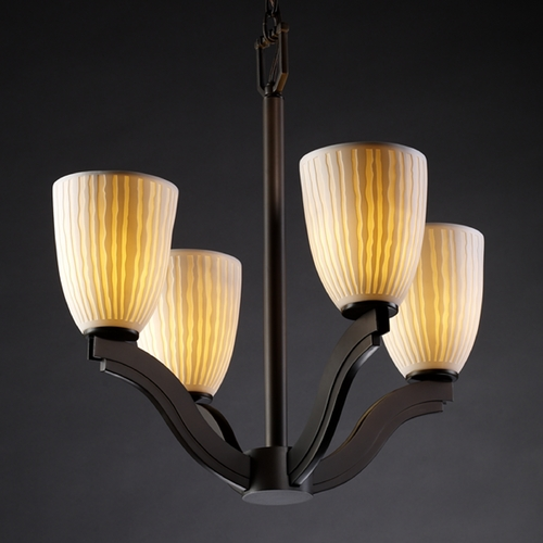 Justice Design Group Justice Design Group Limoges Collection Chandelier POR-8970-18-WFAL-DBRZ