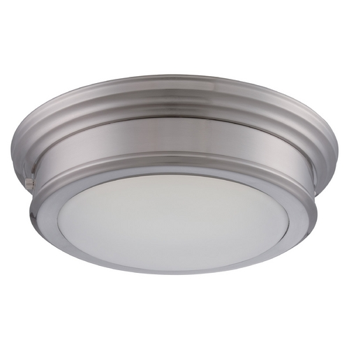 Nuvo Lighting LED Flushmount Light with White Glass in Brushed Nickel Finish 62/151