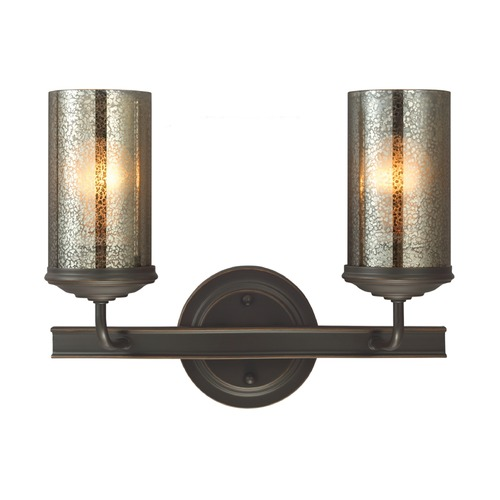 Sea Gull Lighting Mercury Glass Bathroom Light Bronze Sea Gull Lighting 4410402-715