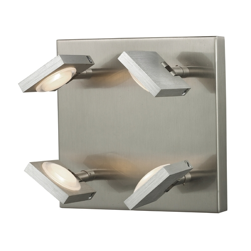 Elk Lighting Modern LED Sconce Wall Light in Brushed Nickel/brushed Aluminum Finish 54013/4