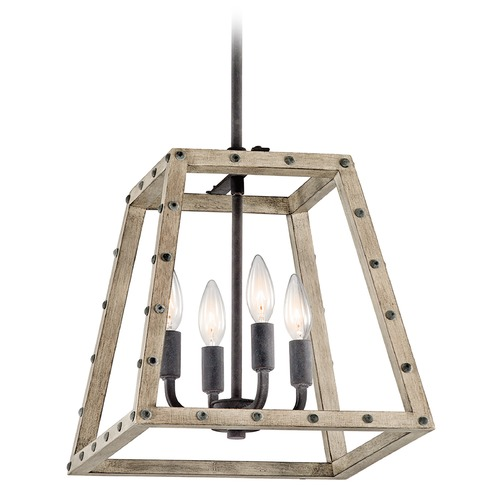 Kichler Lighting Kichler Lighting Basford Distressed Antique Gray Pendant Light 43519DAG