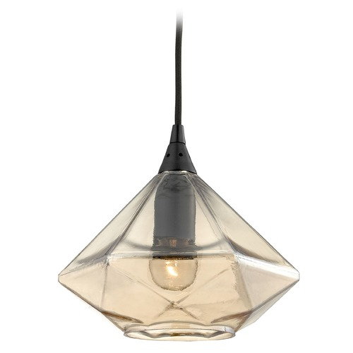 Elk Lighting Elk Lighting Geometrics Oil Rubbed Bronze Mini-Pendant Light with Conical Shade 10450/1