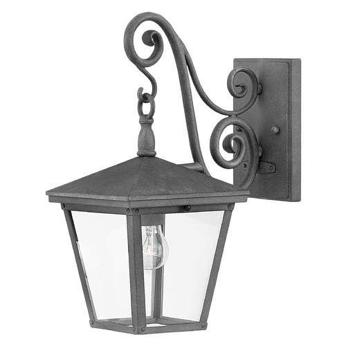 Hinkley Hinkley Trellis 1-Light 15.25-Inch Aged Zinc Outdoor Wall Light 1430DZ