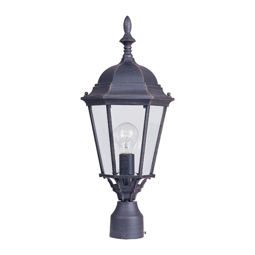 Maxim Lighting Post Light with Clear Glass in Rust Patina Finish 1005RP