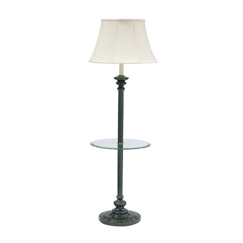 House of Troy Lighting Gallery Tray Lamp with White Shade in Oil Rubbed Bronze Finish N602-OB
