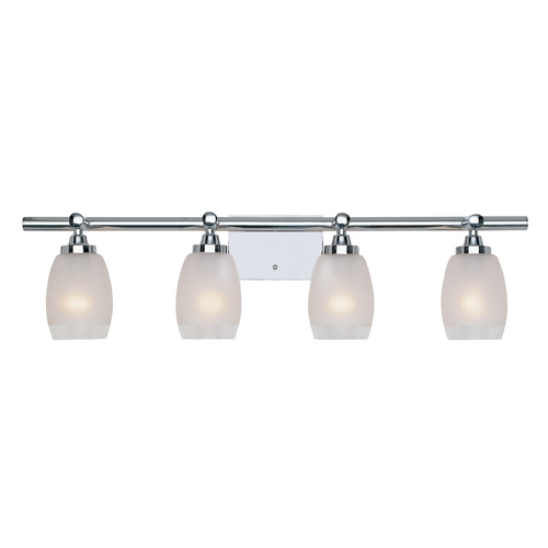 Designers Fountain Lighting Bathroom Light with White Glass in Chrome Finish 6454-CH