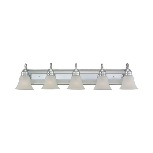 Sea Gull Lighting Bathroom Light with White Glass in Chrome Finish 44854-05