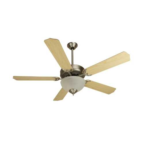 Craftmade Lighting Craftmade 52-Inch Ceiling Fan in Brushed Nickel with Energy Savings Alabaster Light Kit CDU201BNCFL/BCD5MP