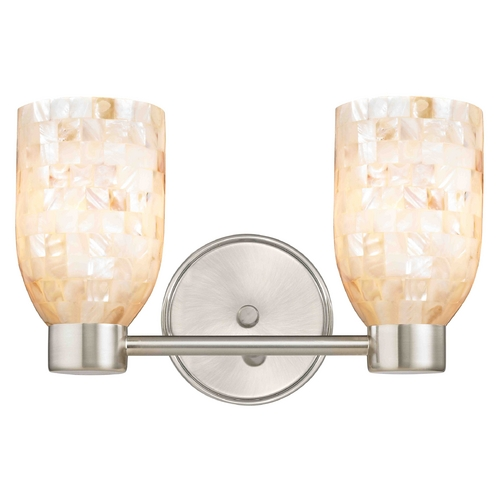 Design Classics Lighting Aon Fuse Modern Satin Nickel Bathroom Light with Dome Glass 1802-09 GL1026D