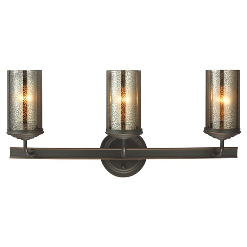 Sea Gull Lighting Mercury Glass Bathroom Light Bronze Sea Gull Lighting 4410403-715