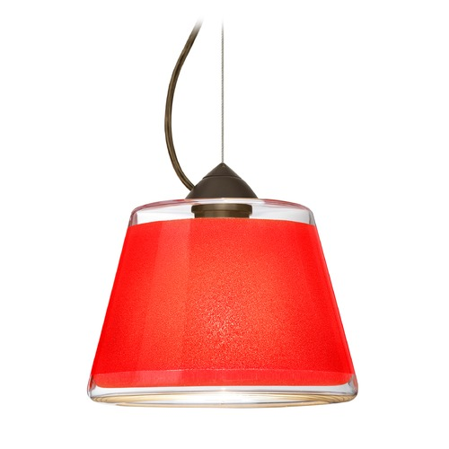 Besa Lighting Besa Lighting Pica Bronze LED Pendant Light with Empire Shade 1KX-PIC9RD-LED-BR