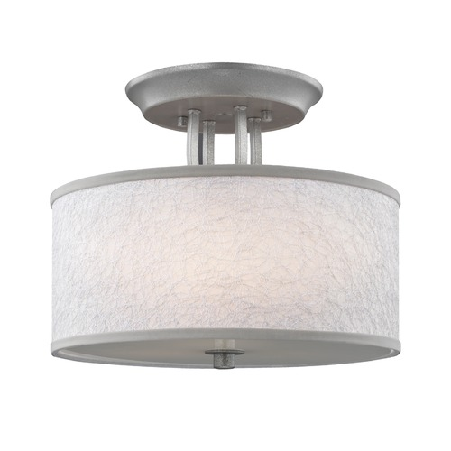 Feiss Lighting Feiss Lighting Parchment Park Dark Silver Semi-Flushmount Light SF323SL