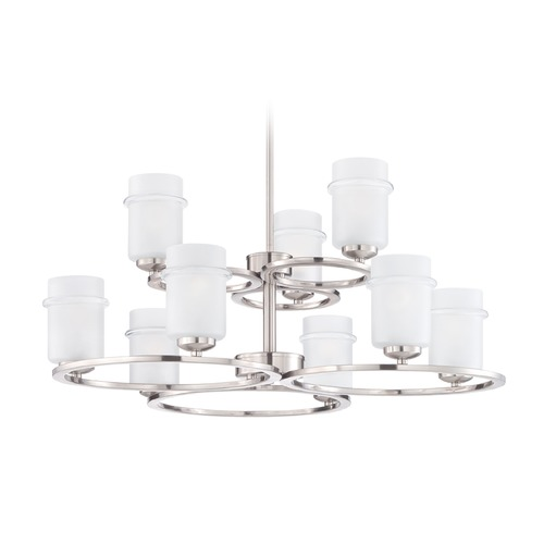 Designers Fountain Lighting Designers Fountain Omega Satin Platinum Chandelier 86689-SP