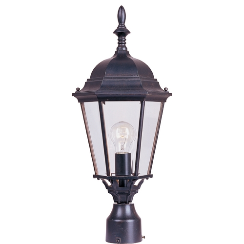 Maxim Lighting Post Light with Clear Glass in Empire Bronze Finish 1005EB