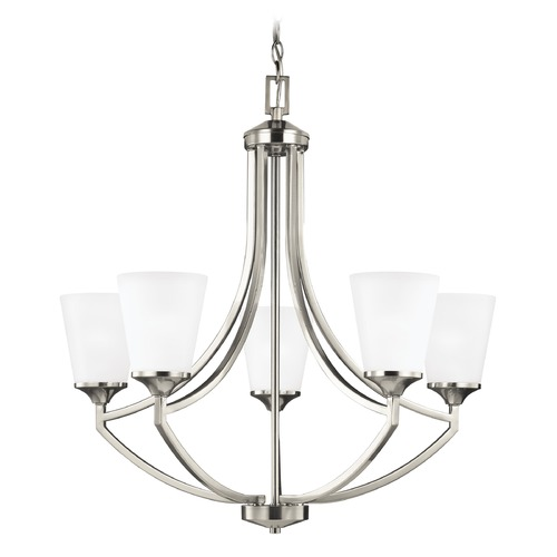 Sea Gull Lighting Sea Gull Lighting Hanford Brushed Nickel LED Chandelier 3124505EN3-962