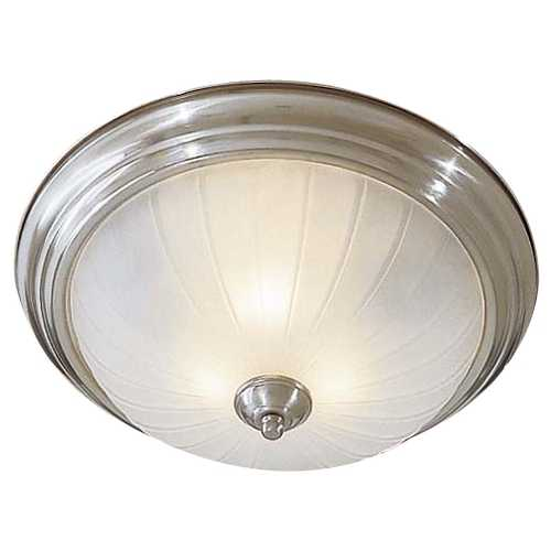 Minka Lavery Flushmount Light with White Glass in Brushed Nickel Finish 829-84-PL