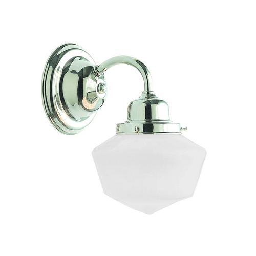Hudson Valley Lighting Sconce with White Glass in Satin Nickel Finish 4601-OB
