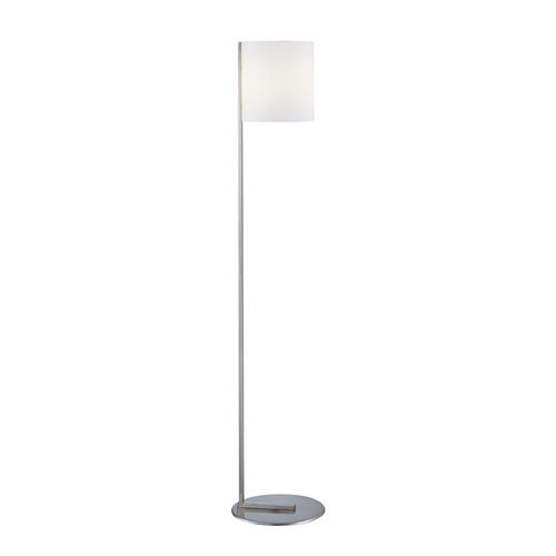 Lite Source Lighting Modern Floor Lamp with White Glass in Polished Steel Finish LS-80844PS/FRO