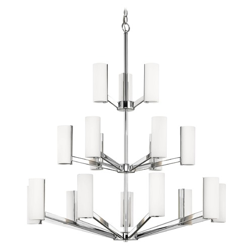 Dolan Designs Lighting Modern LED Three Tier Chandelier with 18 Lights Chrome Finish 1293-26