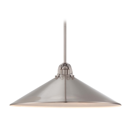 Minka Lavery Modern Pendant Light in Brushed Nickel Finish 2251-84